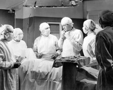 Spellbound Gregory Peck as surgeon in hospital operating theater 8x10 inch photo
