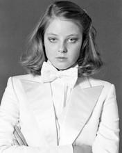 Jodie Foster 1970's pose in white tuxedo 8x10 inch photo