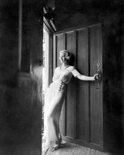 Bette Davis full length young pose in sheer white dress by door 8x10 inch photo