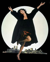 Moonstruck classic poster artwork Cher in front of New York skyline 8x10 photo