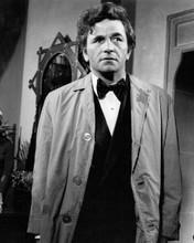 Peter Falk Columbo 1975 A Case of Immunity wears raincoat over tuxedo 8x10 photo
