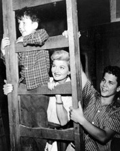 Leave it To Beaver Jerry mathers Barbara Billingsley Tony Dow on ladder 8x10