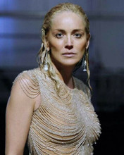 Sharon Stone stunning portrait in sequined gown looking gorgeous 8x10 inch photo