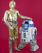 Star Wars C3PO full length pose with R2D2 8x10 inch photo