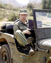 M.A.S.H. Mclean Stevenson as Lt Col Henry Blake at wheel of Jeep 8x10 inch photo
