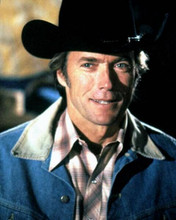 Clint eastwood smiling portrait in denim jacket and black stetson 8x10 photo