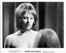 Therese and Isabelle 1968 original 8x10 inch photo Essy Persson bare shoulders