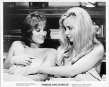 Therese and Isabelle 1968original 8x10 inch photo Essy persson Anne Gael in bed