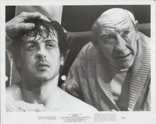 Rocky original 1977 8x10 photo Burgess Meredith Sylvester Stallone ringside