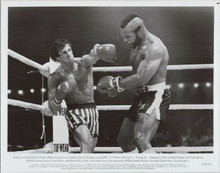 Rocky III original 1982 8x10 photo Sylvester Stallone punches Mr T