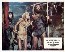 One Million Years BC Raquel Welch stands with John Richardson 8x10 inch photo