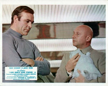 You Only Live Twice Sean Connery talks to Donald Pleasence holds cat 8x10 photo
