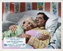 Send me No Flowers 8x10 inch photo Rock Hudson Doris Day lie in bed together