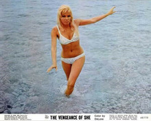 The Vengeance of She Olinka Berova in white bra & panties on Cote d'Azur 8x10