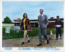 Goldfinger vintage artwork 8x10 photo Honor Blackman walks with Sean Connery