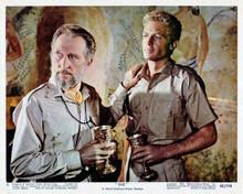 She 1965 Hammer Peter Cushing & John Richardson in safari shirts 8x10 inch photo