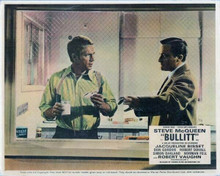 Bullitt vintage artwork 8x10 inch photo Robert Vaughn & Steve McQueen