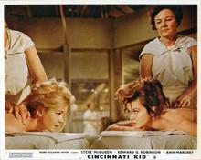 Cincinnati Kid 8x10 inch photo Tuesday Weld Ann-Margret on massage tables