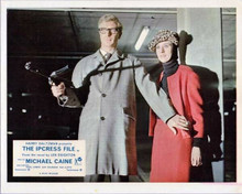 The Ipcress File 8x10 inch photo Michael Caine with machine gun & Sue Lloyd