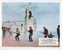 Return of the Seven Yul Brynner Robert Fuller gunfight mexican town 8x10 photo