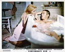 Cincinnati Kid Steve McQueen in tub with Tuesday Weld by side 8x10 inch photo