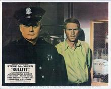 Bullitt vintage artwork 8x10 inch photo Steve McQueen in police squad room