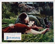 Spartacus vintage artwork 8x10 inch photo Kirk Douglas kisses Jean Simmons