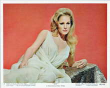 She Hammer 1964 Ursula Andress in white dress as Ayesha seated 8x10 inch photo