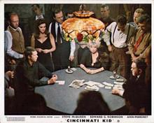 Cincinnati Kid Steve McQueen Edward G Robinson Joan Blondell card game 8x10
