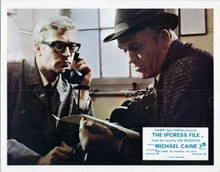 The Ipcress File 8x10 inch photo Michael Caine on phone Gordon Jackson in office