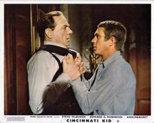 Cincinnati Kid 8x10 inch photo Steve McQueen gets tough with Karl Malden