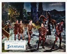 Spartacus vintage artwork 8x10 photo Kirk Douglas Tony Curtis slaves chained