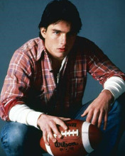 Tom Cruise studio portrait holding football 1983 All The Right Moves 8x10 photo
