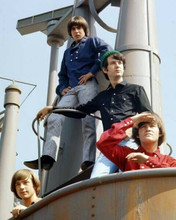 The Monkees Mike Peter Davy Micky pose on deck of ship 8x10 inch photo