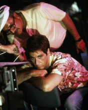 Scarface 1983 Al Pacino in Hawaiian shirt prepares to film a scene 8x10 photo