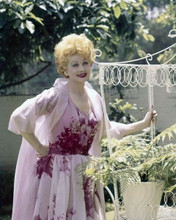 Lucille Ball in pink dress outdoor pose circa early 1960's 8x10 inch photo