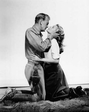 They Came To Cordura 1959 Gary Cooper about to kiss Rita Hayworth 8x10 photo