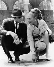 Thomas Crown Affair Faye Dunaway & Paul Burke kneeling down 8x10 inch photo