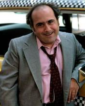 Danny De Vito gives classic Louie De Palma snarl posing by cab Taxi 8x10 photo
