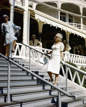 Some Like it Hot Tony Curtis & Marilyn Monroe on Hotel Del Coronado steps 8x10