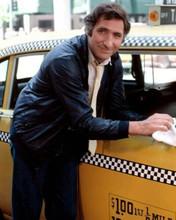 Judd Hirsch as Alex Reiger polishing his cab Taxi TV series 8x10 inch photo