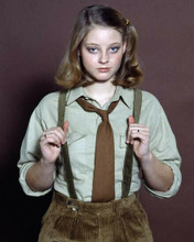 Jodie Foster portrait in tie & braces circa 1970's 8x10 inch photo