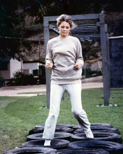 Lindsay Wagner as Jamie Sommers doing assault course The Bionic Woman 8x10 photo
