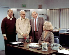 Mary Tyler Moore ShowMurray Ted Baxter Lou & Mary in news room 8x10 inch photo