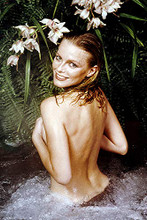 Cheryl Ladd bare backed hands covering breasts sexy pin-up 4x6 inch real photo