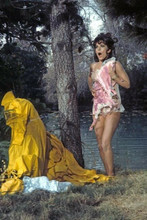 Natalie Wood covers up her modesty in petticoat The Great Race 4x6 inch photo