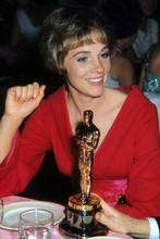 Julie Andrews in red dress at Academy Awards with her Oscar 4x6 inch photo