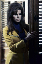 Raquel Welch stands by shutters from 1967 Fathom 4x6 inch photo