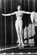 Natalie Wood leggy full length in corset on stage 1962 Gypsy 4x6 inch real photo