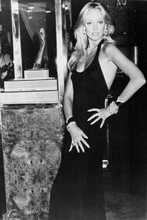 Susan Anton glamour pose in black dress 4x6 inch real photo